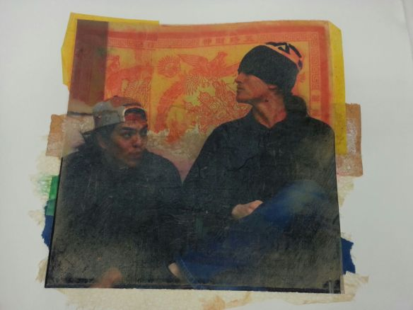 A sample of a photo inkjet print used by a guest artist during a training session which includes Ely Lynch and myself.