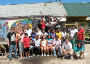 WiscAMP Scholars at Community GroundWorks (Troy Gardens), a nonprofit organization that connects people to nature and local food.