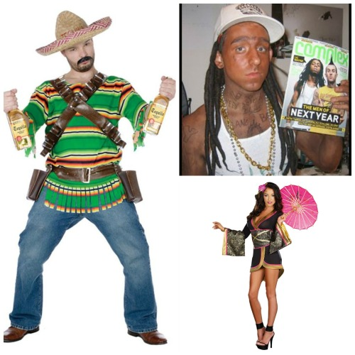 Images from: Blog.buycostumes.com, bossip.com and Google searches of Mexican halloween costumes