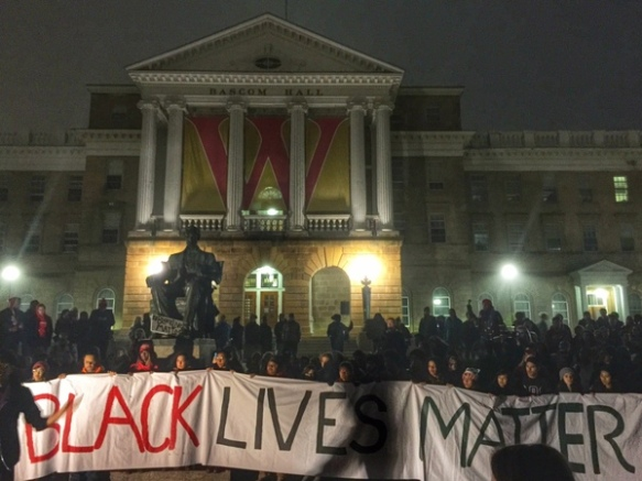click image to read more about #blacklivesmatter on campus
